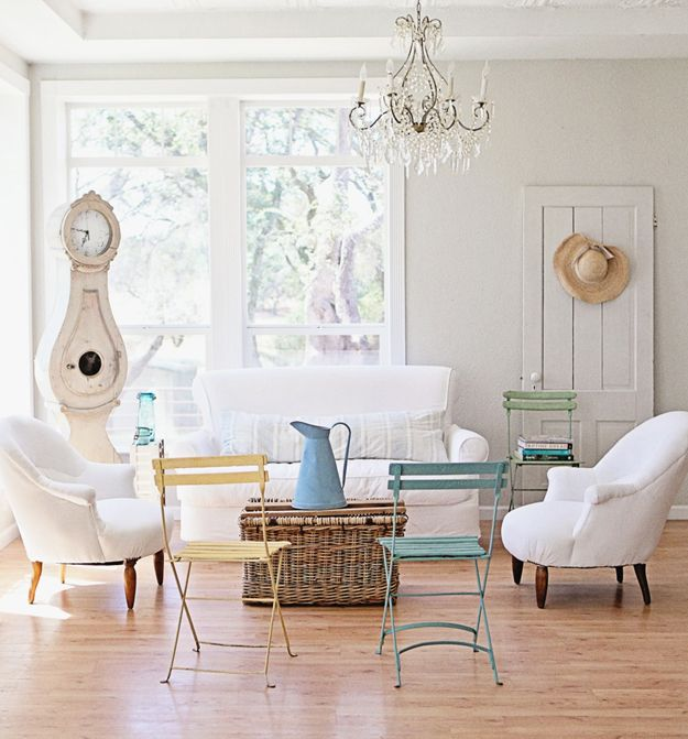 "Dreamy Whites - The simplicity of this home is so striking to me! EVERY. SINGLE. THING is beautiful and special...nothing seems like a ""filler."" Makes me want to get rid of everything that is not quality or lovely in my home!"