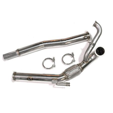 "Downpipe Assembly, Stainless 3"""" GT V-band, for GT30 and GT35 Series on 2.0T FSI FWD"