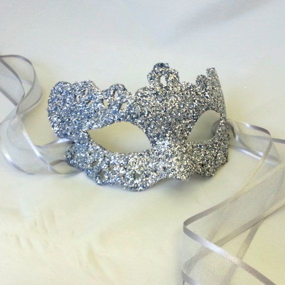 Silver Lady Filigree Shimmer Venetian Masquerade Masked Ball Prom Mask