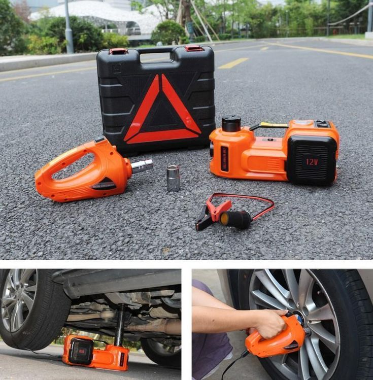 3 in 1 Electric Hydraulic Floor Jack Impact Wrench and Air