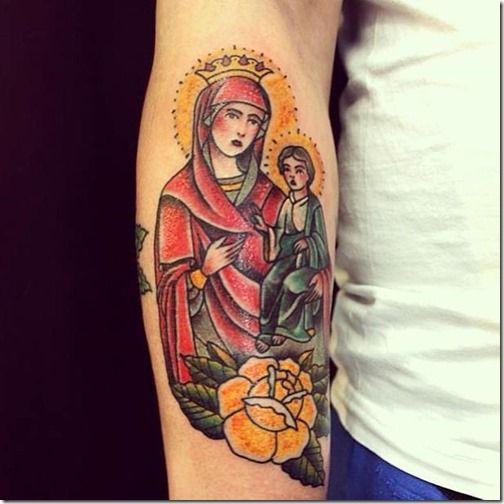 El dúo más solicitada en los estudios de tatuajes: la virgen maría y jesucristo