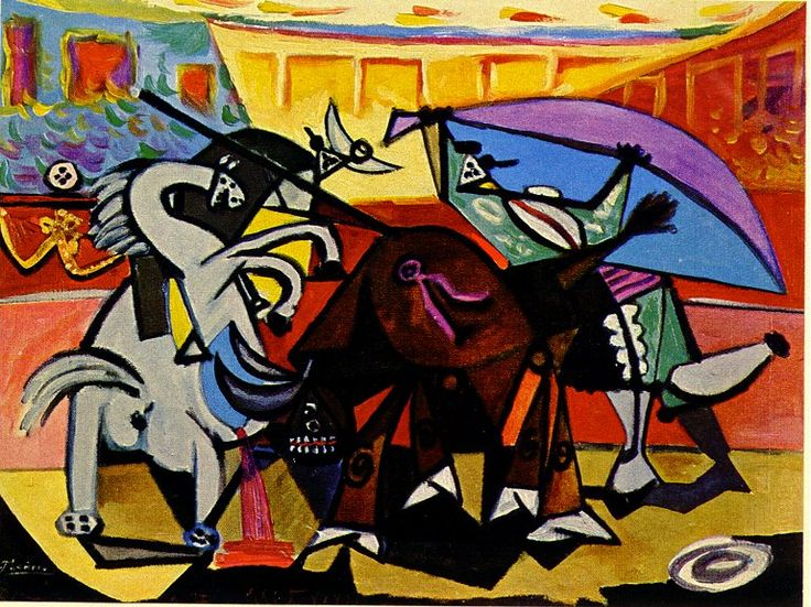 Pablo Picasso A bullfight 1934