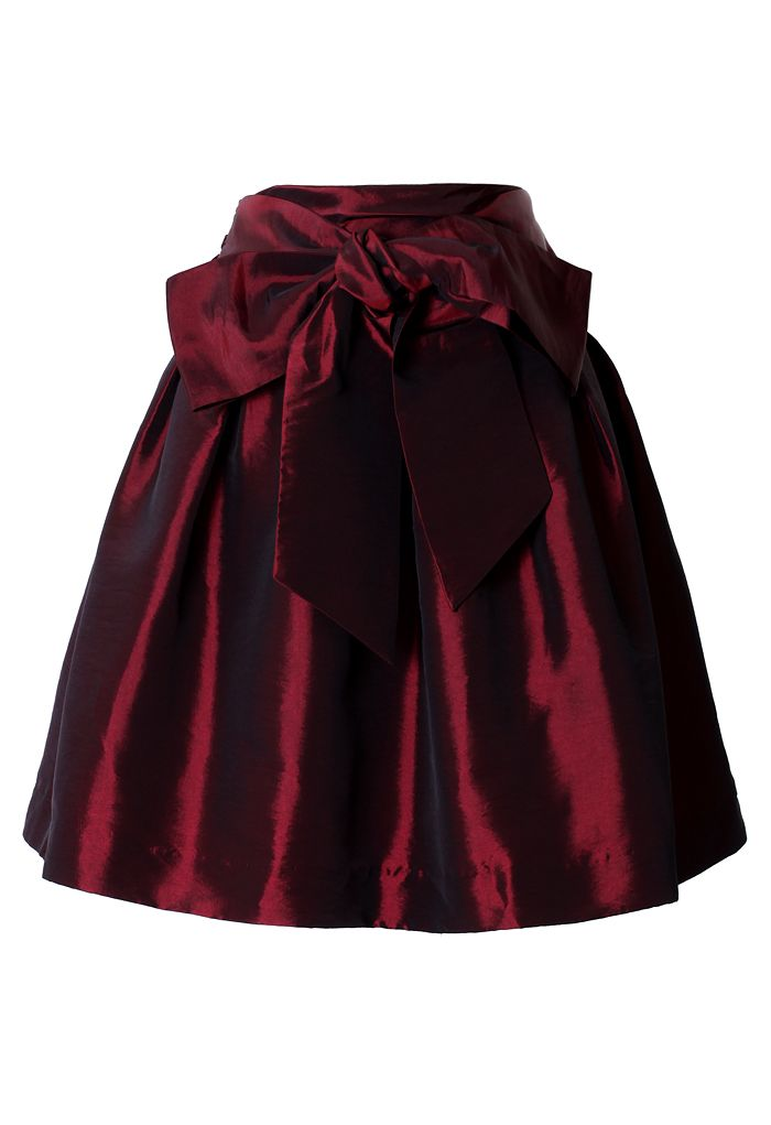 Bowknot Wine Red Full A-line Skirt This is such a rich color, it will depend on the lighting as to how well the color will be seen. Fall 2013