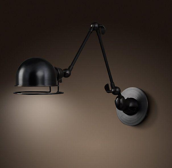 Restoration Hardware Discontinued Lighting: Restoration Hardware -- Atelier Swing Arm Wall Sconce