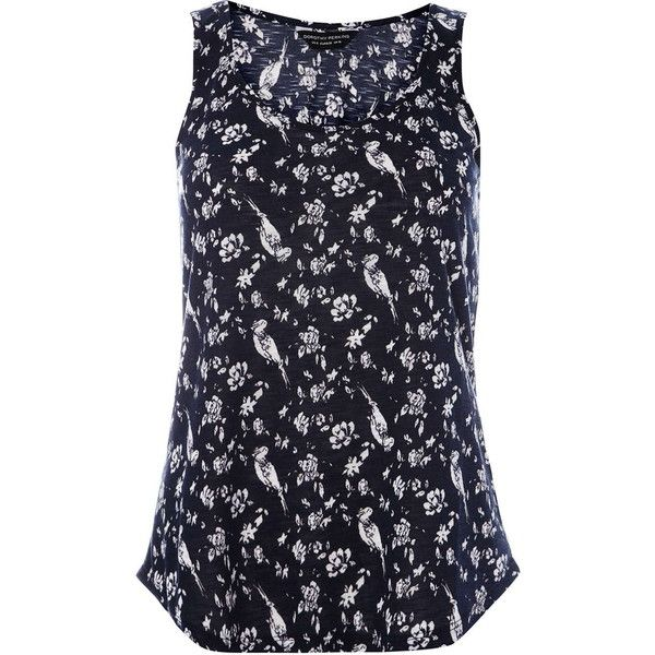Dorothy Perkins Navy Bird Scoop Vest ($8.33) ❤ liked on Polyvore featuring outerwear, vests, tops, navy, navy blue waistcoat, navy waistcoat, navy blue vests, vest waistcoat and sleeveless vest