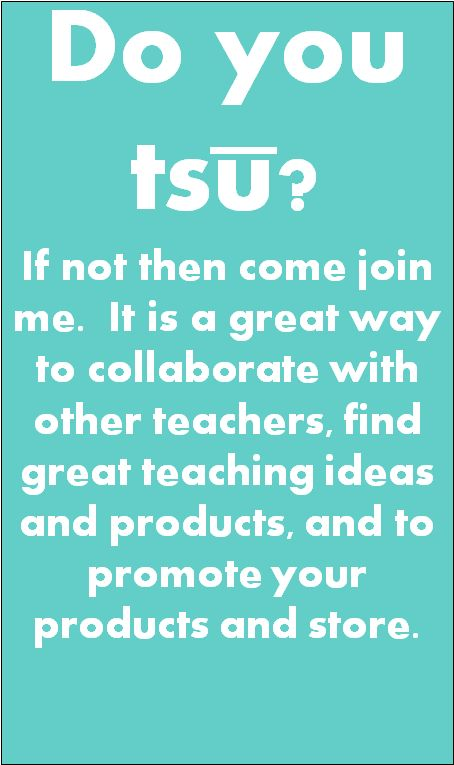 If you have not joined tsu, it is a must.  It is a great way to find awesome teaching ideas and products and a super way to promote your store and your products.  You get many more views than other social media and actually get paid for using the site.  It is a win, win for everyone!  Head on over today and sign up!  https://www.tsu.co/MyKinderGarden