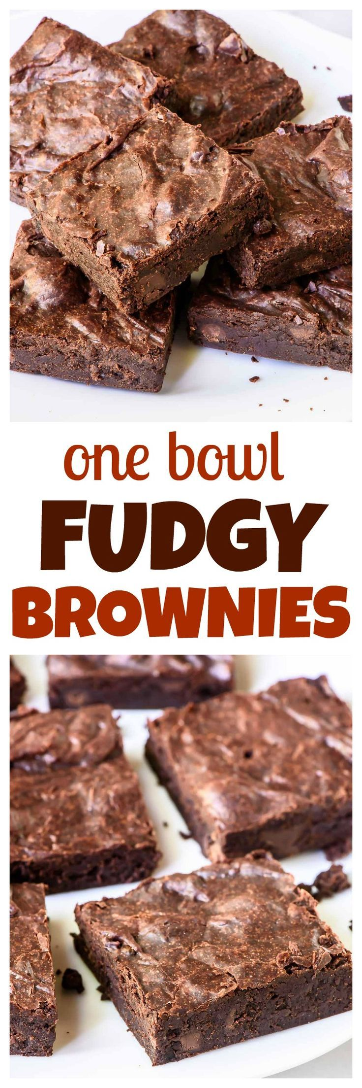 Truly the BEST BROWNIES you will ever bake! Soft, fudgy, and you only need ONE BOWL and 10 MINUTES. What are you waiting for?? www.wellplated.com
