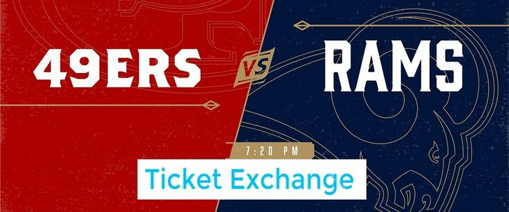 Get San Francisco 49ers vs. Los Angeles Rams at Levi's Stadium in Santa Clara, CA on Monday September 12, 2016 - 7:20PM Tickets on NFL Ticket Exchange.    #SanFrancisco49ersTickets  #LosAngelesRamsTickets  #LevisStadiumTickets  #NFLTicketExchange  #NFLTickets