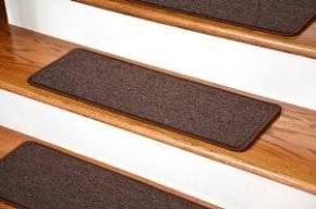 Best Dean Diy Peel And Stick Serged Non Skid Carpet Stair Treads Dark Brown Carpet Stair Treads 400 x 300