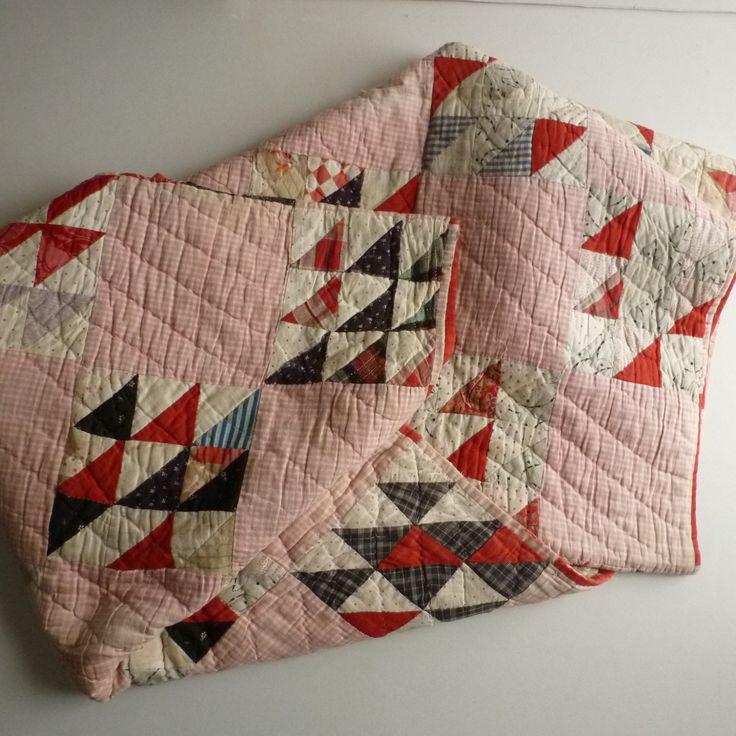 Vintage (feedsack?) quilt