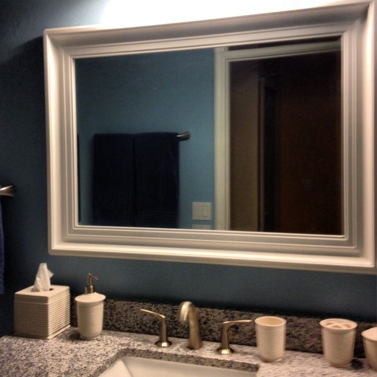 Ideas For Decorating A Large Bathroom Mirror: Best 25+ Frame Bathroom Mirrors Ideas On Pinterest