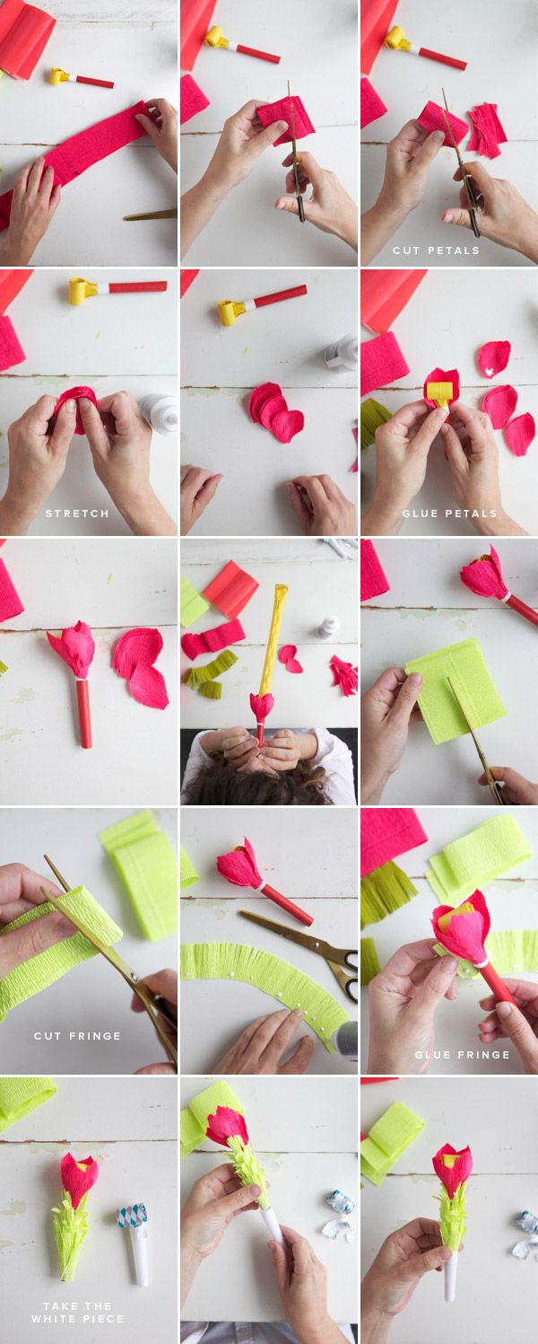28 best flores de papel images on pinterest giant paper flowers how to make flowers out of party blowers mightylinksfo