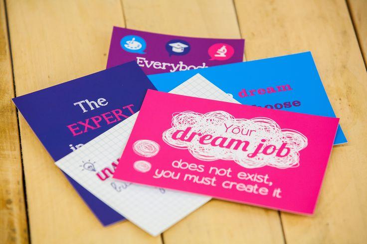 Set van 5 kaarten á €4,75 met inspirerende quotes  www.pimpyourcareeracademy.nl/inspiratiekaarten/