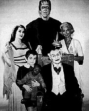 The Munsters aired on CBS from Sept. 1964 to Sept.1966 with 70 episodes being produced. They lived at 1313 Mockingbird Lane.Herman looked like Frankenstein and worked at a funeral home. Lily Munster, a vampire, their son, Edward Wolfgang Munster, a werewolf, Lily's father Grandpa, Count Dracula, a 378 year old mad scientist, who's inventions keep backfiring. The odd one  of the family is niece Marilyn, who is not only normal but beautiful and is a college student.
