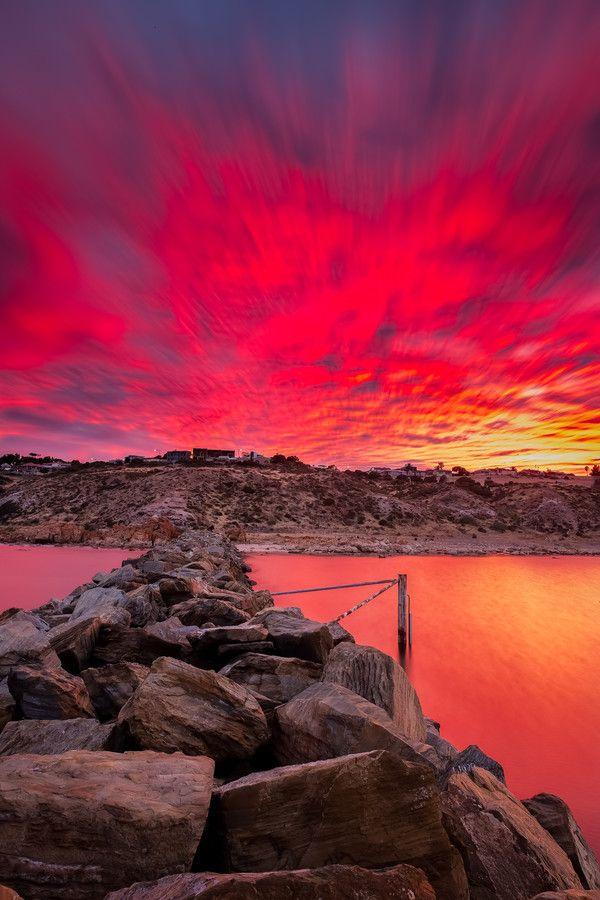~~O'sullivans beach sunrise ~ stunning red sunrise, Adelaide, South Australia by James PhotoGraphy~~