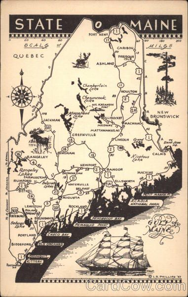 Best Just Maine Things Images On Pinterest Maine Portland - Road map of maine usa