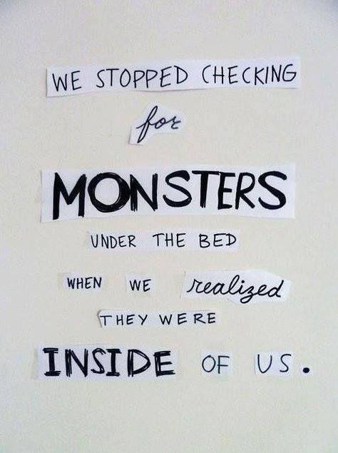 the monster is inside