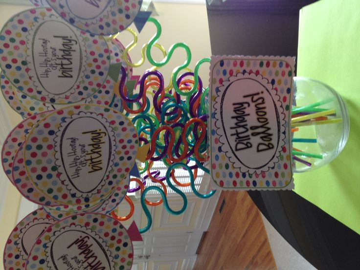 Finished with my birthday balloons! Can't wait to give these cuties to my class, and make their birthday extra special. :)