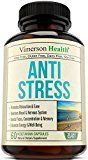 Stress Relief & Natural Anti Anxiety Supplement by Vimerson Health. Herbal Blend with Biotin, 5-HTP, Valerian, Lutein, Vitamins B1 B2 B5 B6, L-Theanine, St Johns Wort, Ashwagandha, Chamomile, Niacin