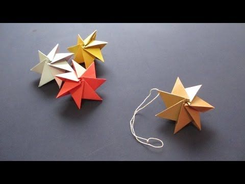 Ornament Christmas Star - Septima star, 7 pieces, single-sided paper. Seventh piece forces the expansion.