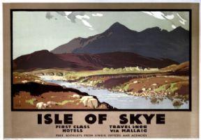 Isle of Skye, Cuillin Hills, Scottish Highlands. LNER Vintage Travel Poster by…
