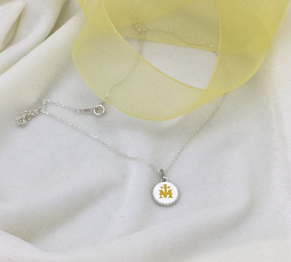 Marian Milgrain  Cross Yellow Necklace,RCIA,First Communion, Confirmation, Religious, Personalized necklace, Baptism,Friendship,Promise gift
