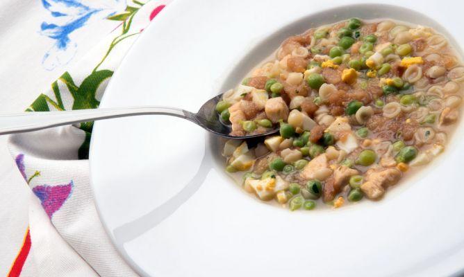 Receta de Sopa de guisantes