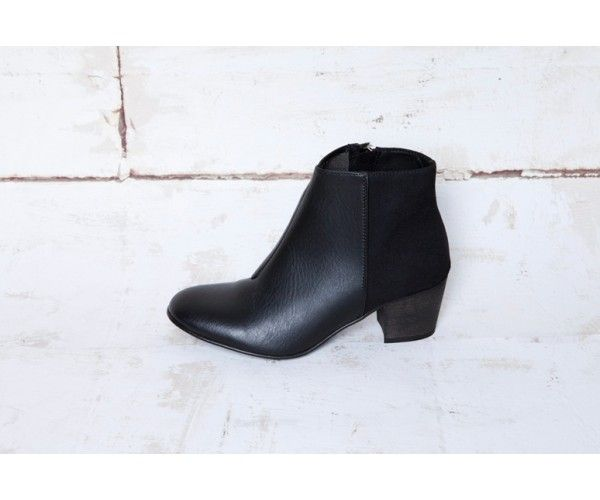 $245. Upper in veg.suede Microfibre lining Inside zipper Tunit sole Wooden heel 5 cm For Women Sizing: Accurate to a little small due to the round shape of the boo...