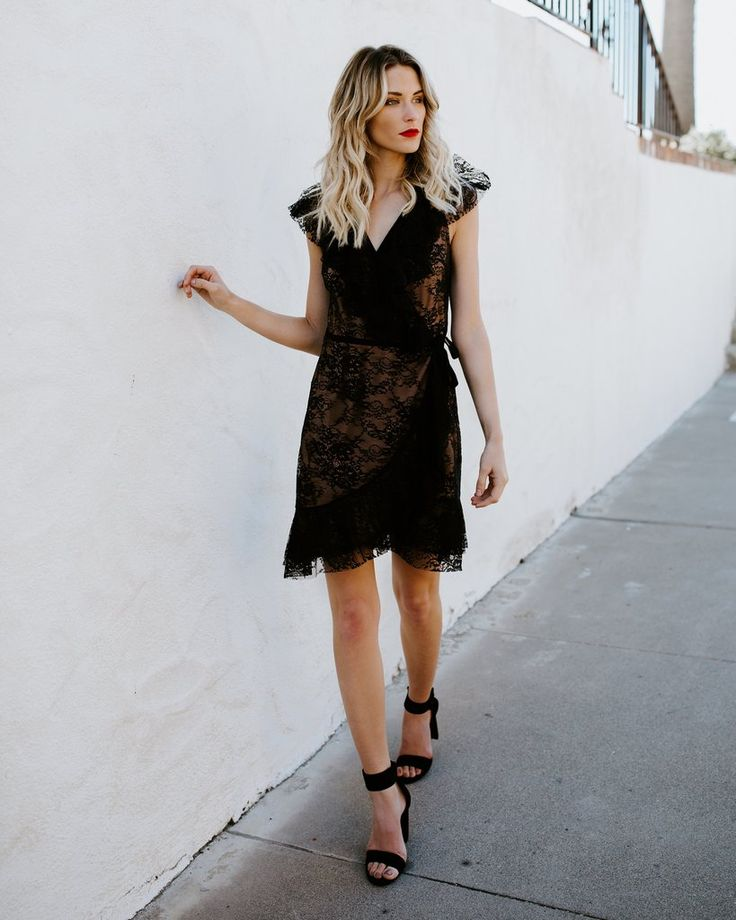 Enchanted Evening Lace Wrap Dress