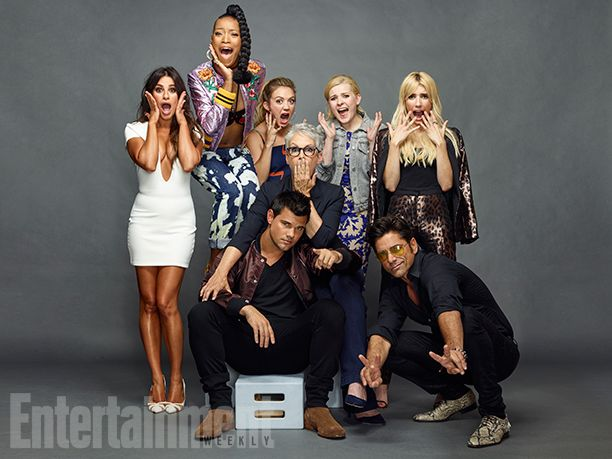 Comic-Con 2016 Star Portraits: Day 2 | Lea Michele, Keke Palmer, Billie Lourd, Abigail Breslin, Emma Roberts, Jamie Lee Curtis, John Stamos, and Taylor Lautner, 'Scream Queens' | EW.com