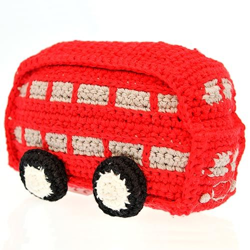 Hold the bus! A splendid Red Routemaster London Bus, expertly crocheted by the…