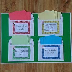In Vorbereitung auf den Klassenrat können die Kinder die ganze Woche verbringen