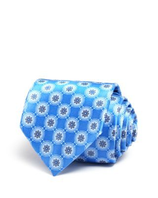 The Men's Store at Bloomingdale's Flower Medallion Classic Tie | Bloomingdale's Electric Blue.