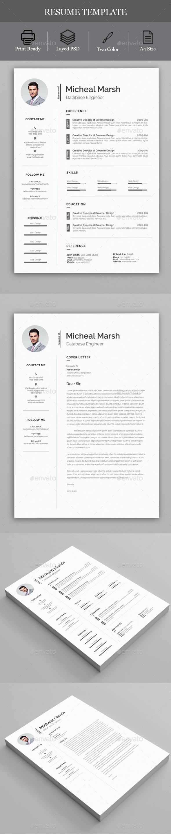 Resume - Resumes Stationery Download here: https://graphicriver.net/item/resume/19816206?ref=classicdesignp