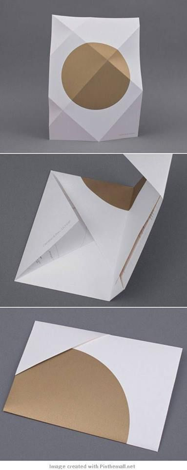 Folded letter envelop