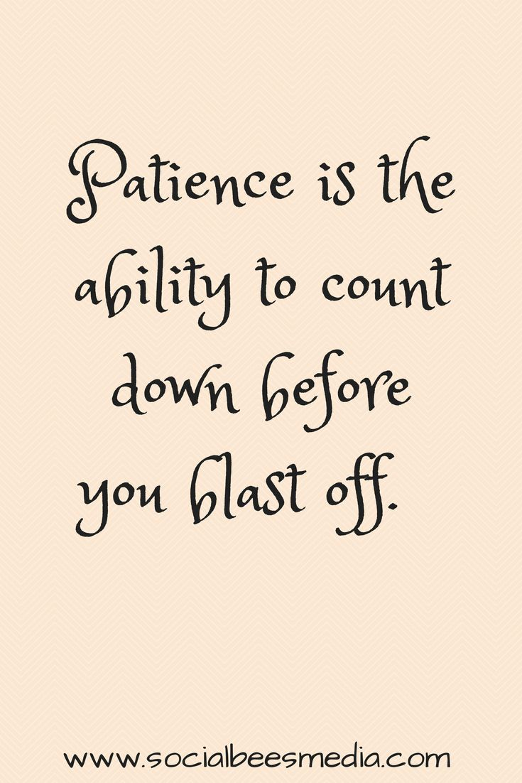Being patient is definitely something I've had to train myself to be. The life I live test my ability to stay calm often. People always say you're so calm, idk how you do it. Believe me it doesn't come natural and its a struggle!