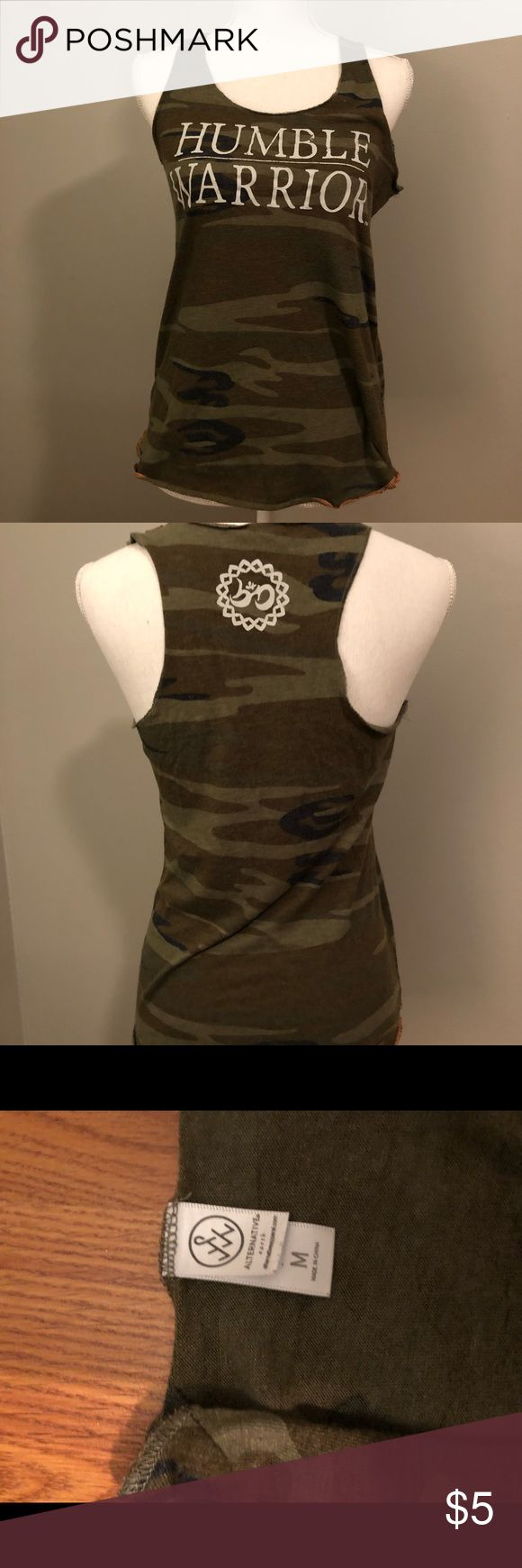 Humble Warrior Camo Tank Top Great condition!! Tops Tank Tops
