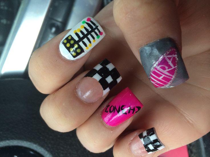NHRA drag racing nails