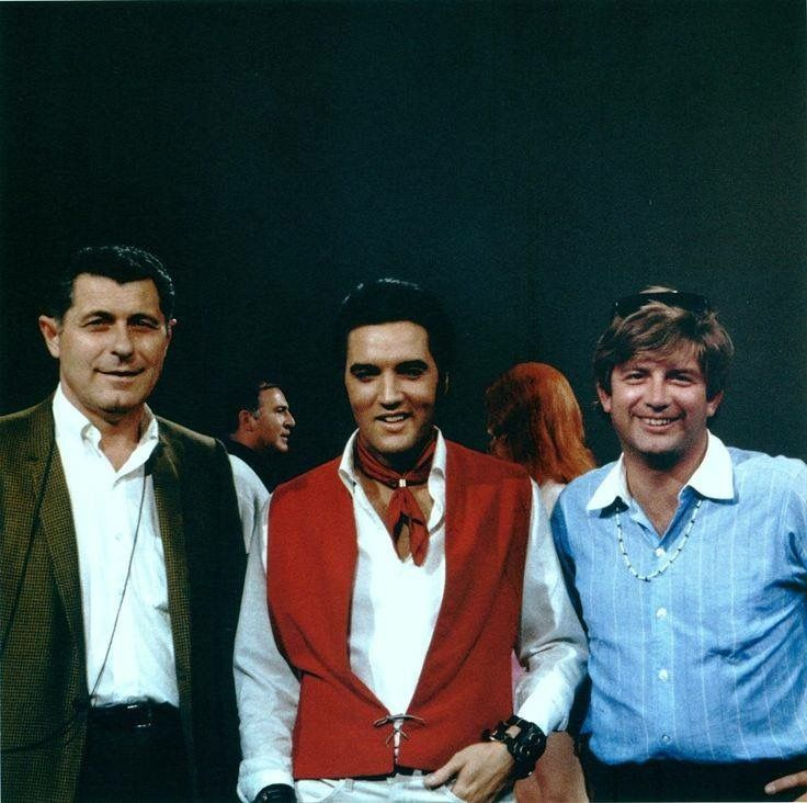 Lighting director John Freschi and Art director Eugene McAvoy with Elvis - 1958 NBC TV Special
