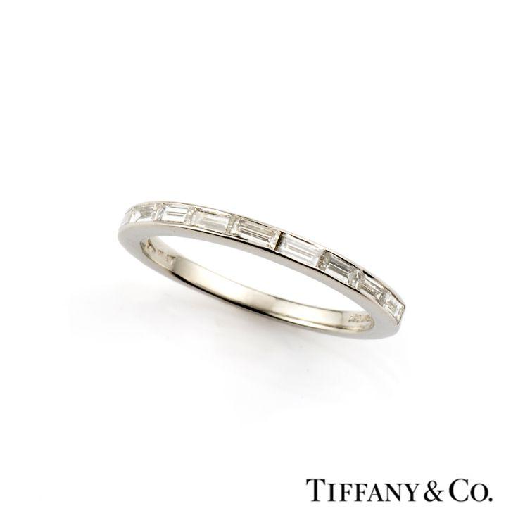 Tiffany Amp Co Baguette Cut Diamond Half Eternity Ring In