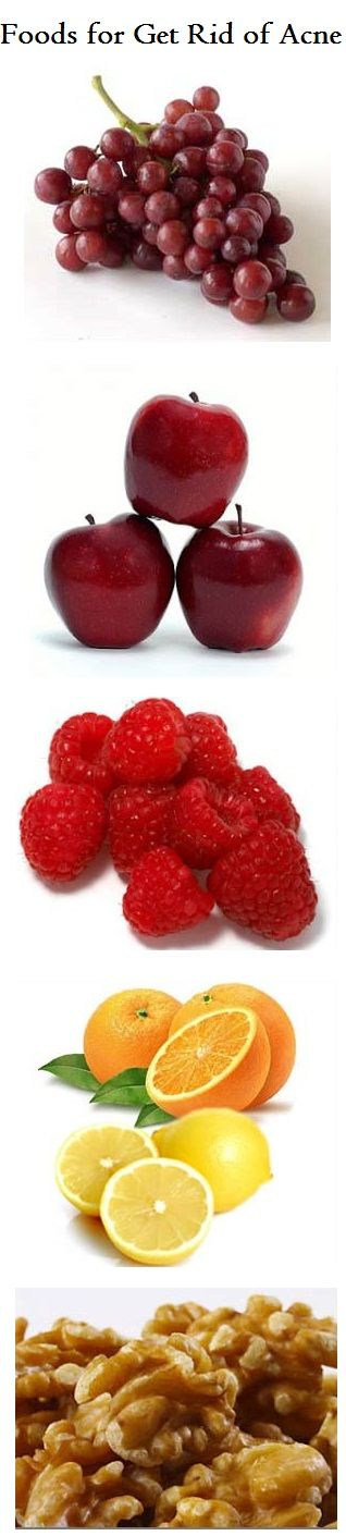 Foods for Get Rid of Acne: Below are 10 different types of fruits and food which are and should be had while we are suffering from breakouts.