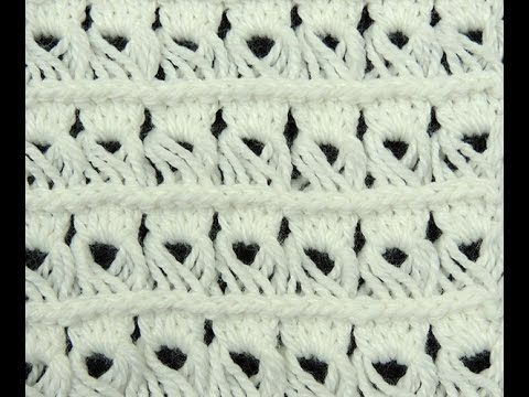Crochet : Punto Alto Cruzado - YouTube