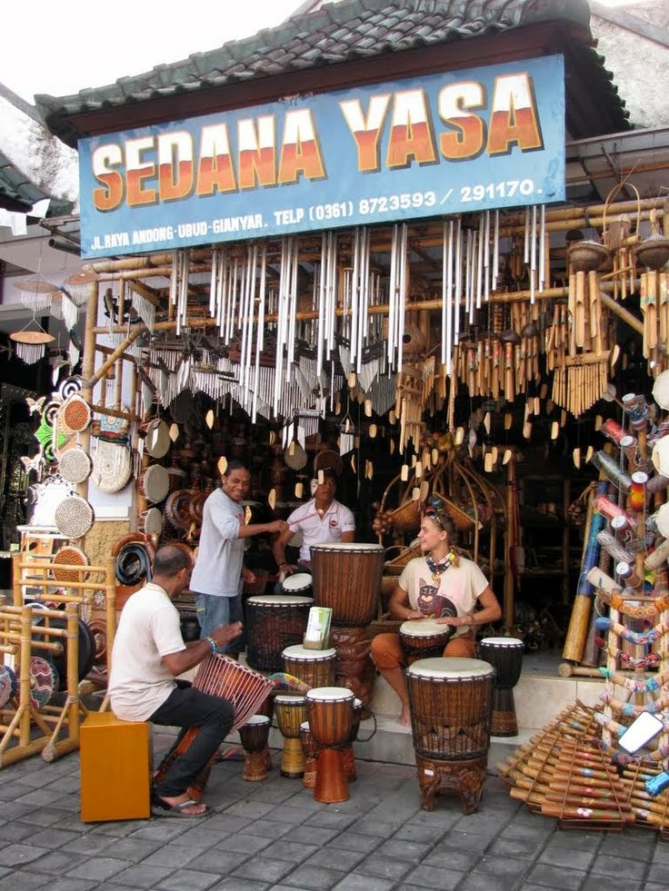Drumming jam session out front of Sedana Yasa music instrument shop on Jalan Andong, north of Ubud, Bali, Indonesia #music #musik #drums #drumming #travel #Bali