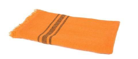 Harmony - Drap de bain plage serviette en lin Kuta Abricot - 100% Lin nid d'abeille - 80*190 cm