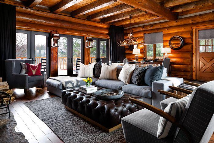 Деревянный домик в Канаде | Пуфик - блог о дизайне интерьера