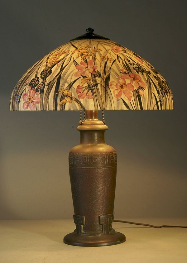 Antique Table Lamps Value Enchanting 224 Best Reverse Painted Glass Lamps Images On Pinterest  Glass Design Ideas