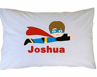 Superhero Pillow Case Superhero Personalized Pillow Case