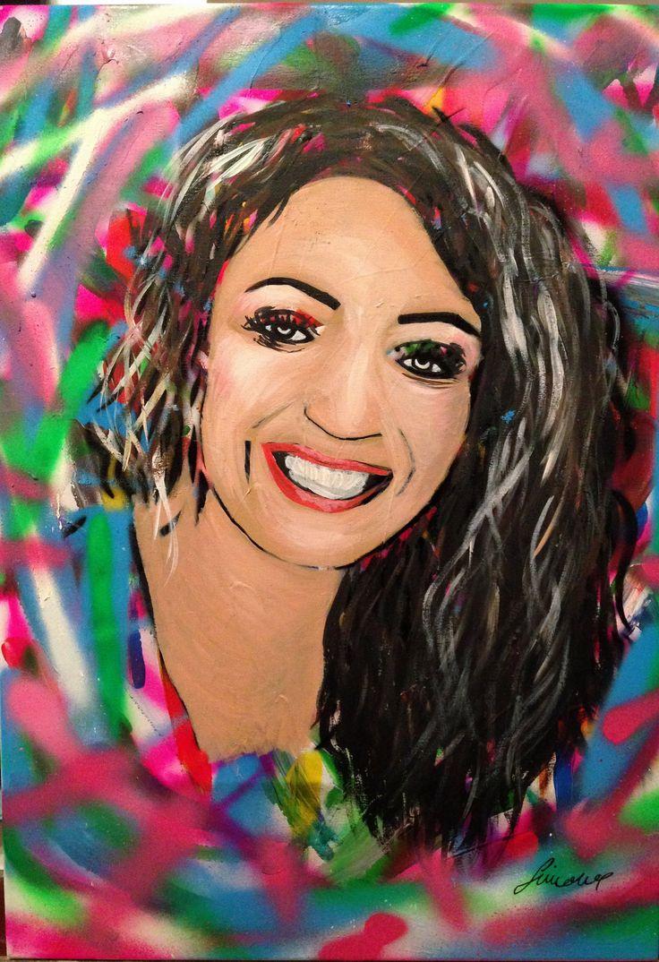 Laura's Portrait - Acrylic on Canvas