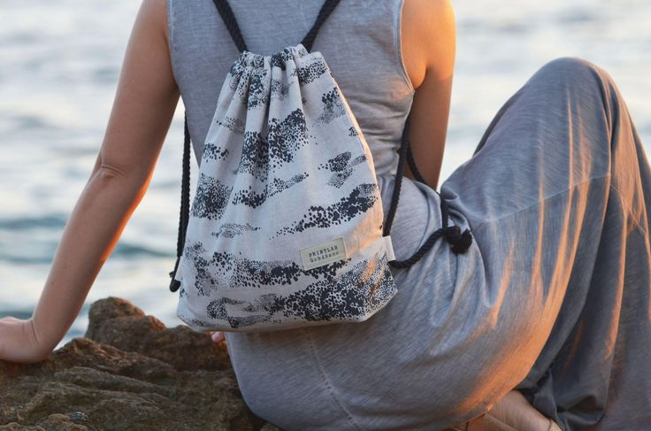 Drawstring backpack by Printlab Gabi Bano