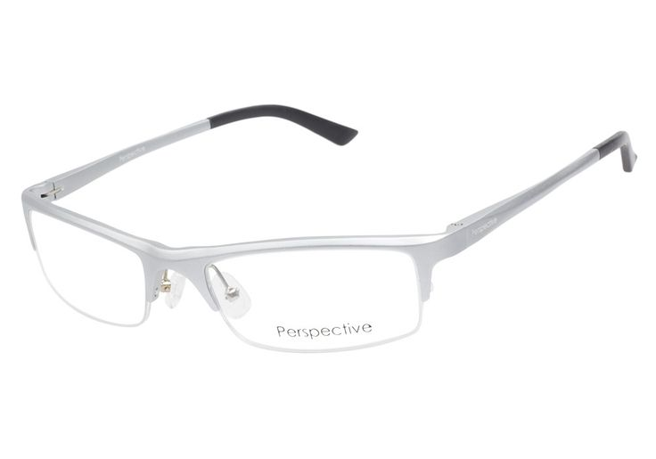 Perspective 2044 Silver eyeglasses emit a confident and sporty vibe. With rectangular lenses, this semi-rimless frame brings a lot of edge which is further elevated by the matte silver aluminum finish from @CoastalDotCom